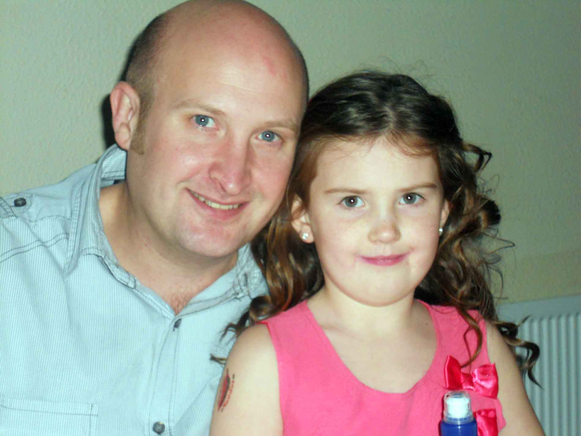 Father and Child Recipients Of A Gloucestershire Society Grant