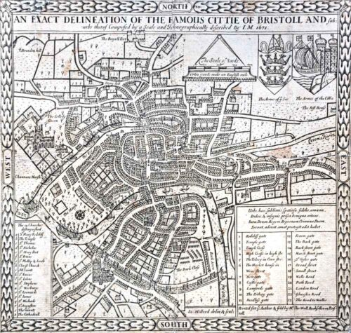 Millerd Map of Bristol - 1671