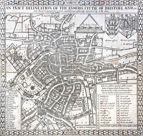 Millerd's Map Of Bristol In 1671